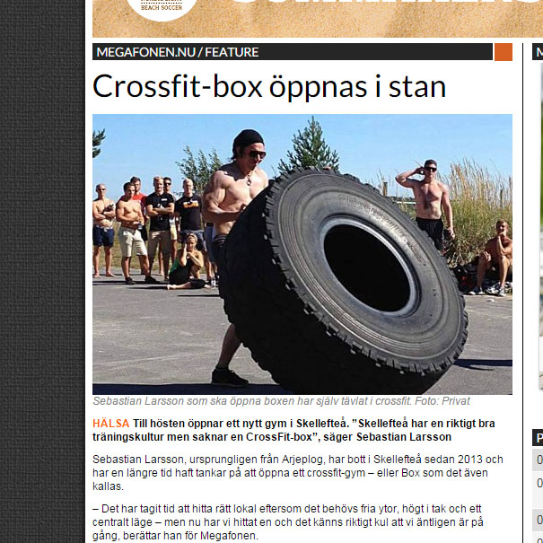 Sebastian Larsson öppnar crossfitgym i Skellefteå